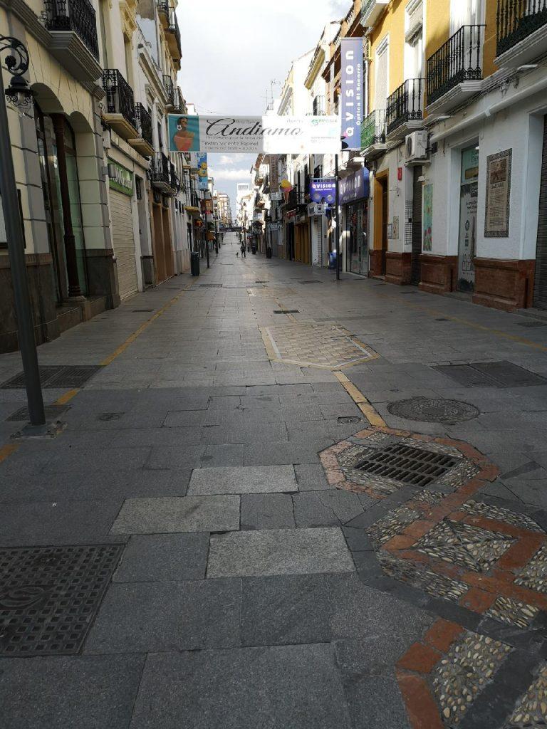 empty streets in Ronda