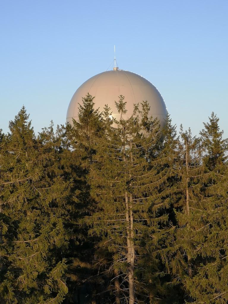 Radarkuppel auf dem Döbraberg