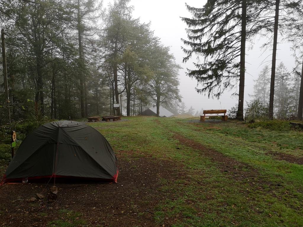 Nächster Tag mit Regen am Trekkingplatz