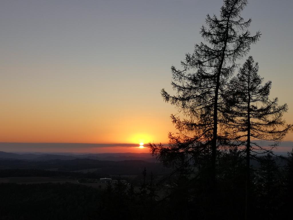 Sonnenuntergang vom Döbraberg