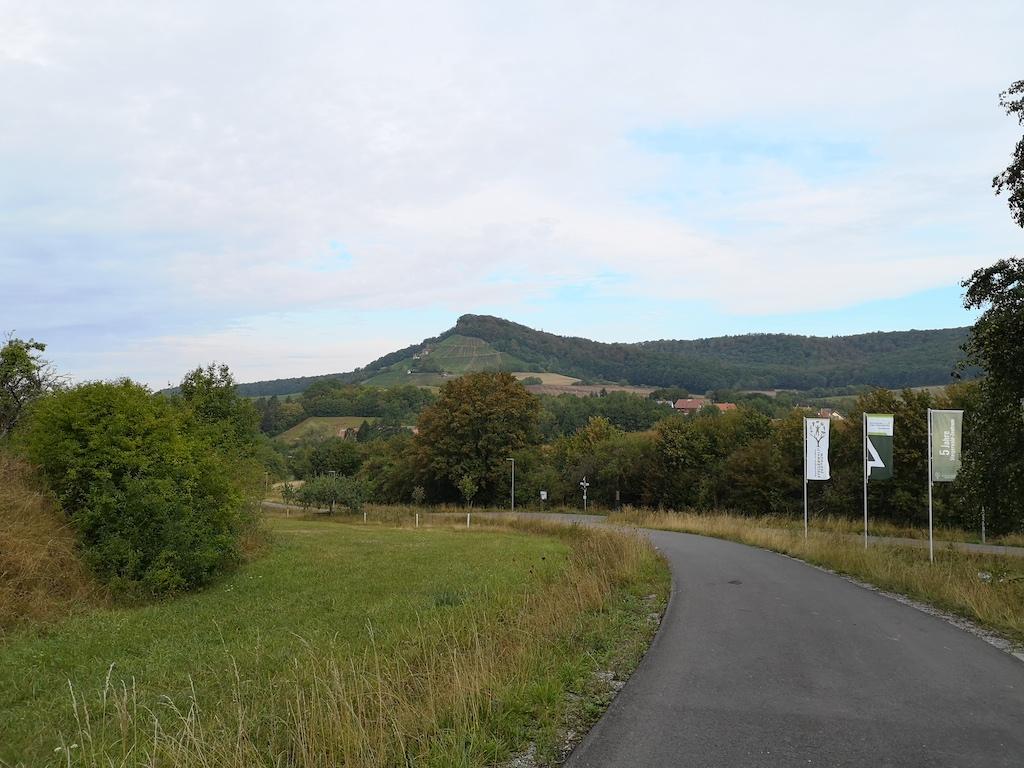 Weg Richtung Stollberg am Steigerwaldzentrum vorbei