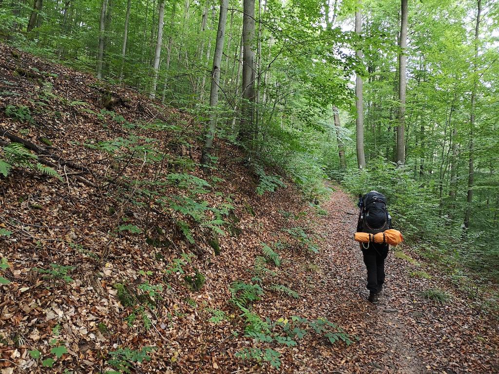 Aufstieg am Stollberg