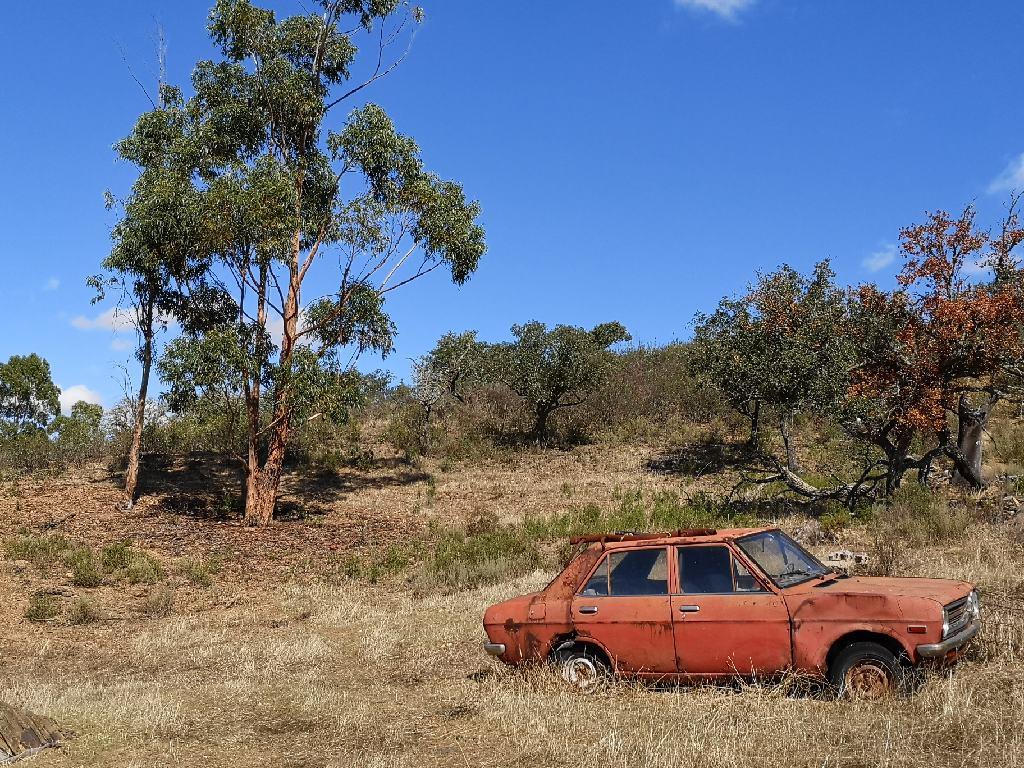 Auto in Landschaft
