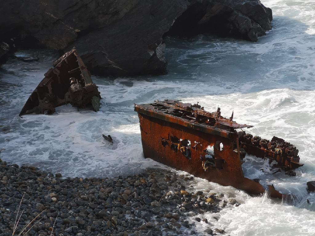 Das Schiffswrack Klemens von Vila Nova de Milfontes