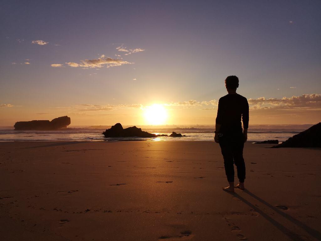 Sunset am Strand von Sagres