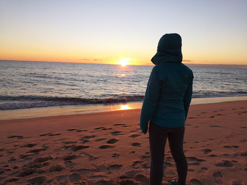Sonnenuntergang am Praia de Faro