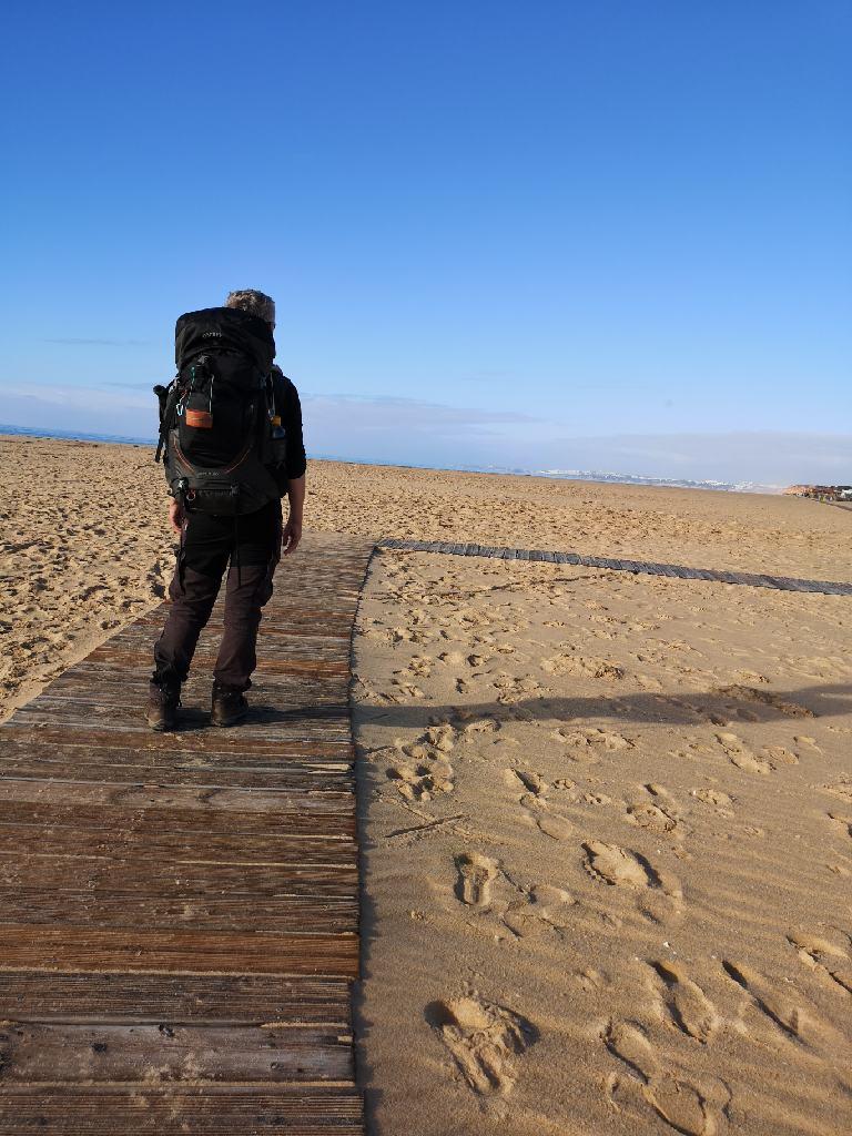 Der Bohlenweg am Strand Praia da Rocha